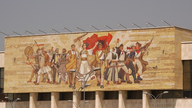 Decoration of the National History Museum, Bulevardi Zogu I, Tirana, Albania