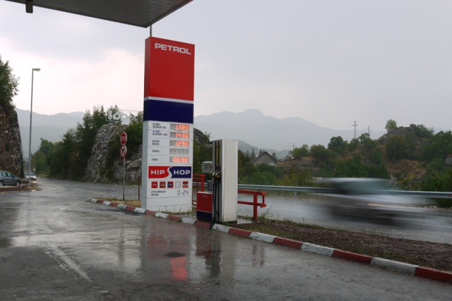 Downpour in Montenegrin mountains, Montenegro