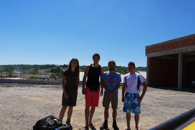 Hitch-hiking in Bosnia and Herzegovina with a couple of guys who picked us up on the way to Banja Luka