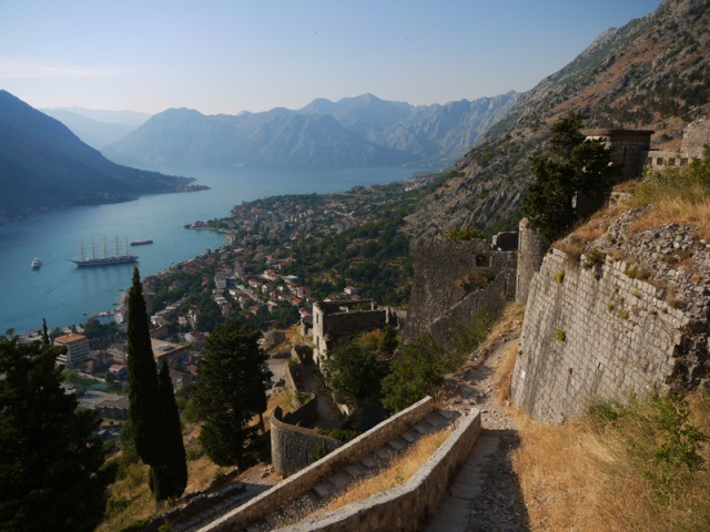 Kotor and Kotor Bay seen from the Fortress