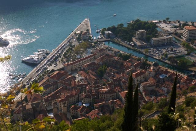 Kotor seen from above, Montenegro