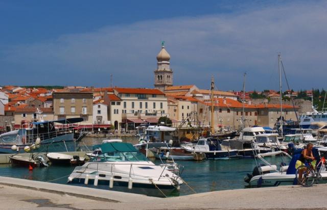 Krk port, Krk island, Croatia