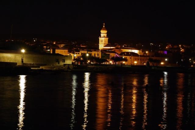 Krk town, Krk island, Croatia by night