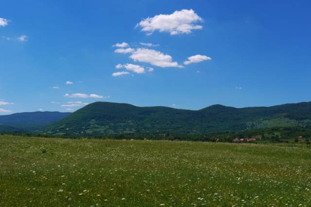 Landscape near the Croatian-Bosnian border