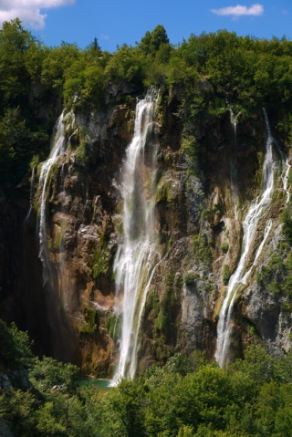 Main waterfall in Plitvice National Park, Croatia