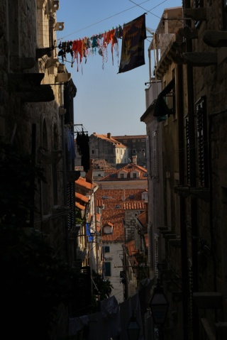 Narrow streets of Dubrovnik, Croatia
