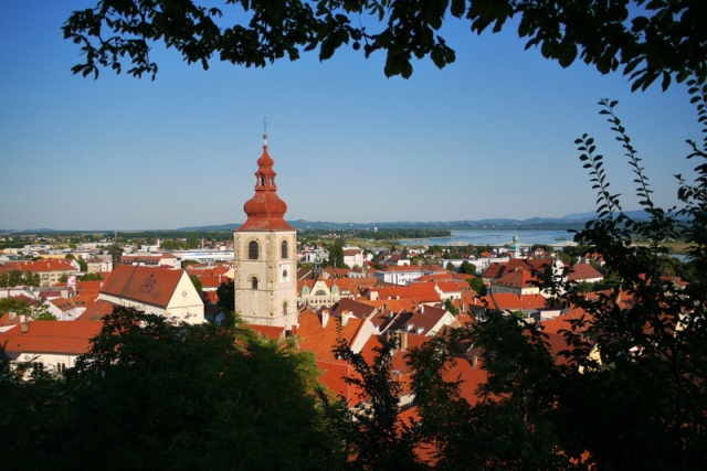 Ptuj Old Town seen from the Castle, Slovenia