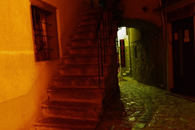Streets of Krk by night, Croatia - small