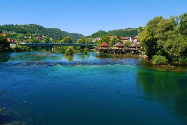 The riverside in Bosanska krupa, Bosna and Herzegovina