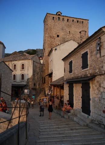 The streets of Mostar old town, Bosnia and Herzegovina