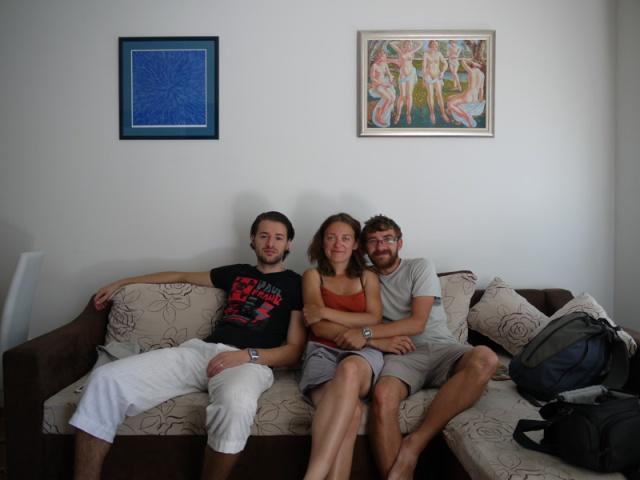With Branko, our host in Banja Luka, Bosnia and Herzegovina