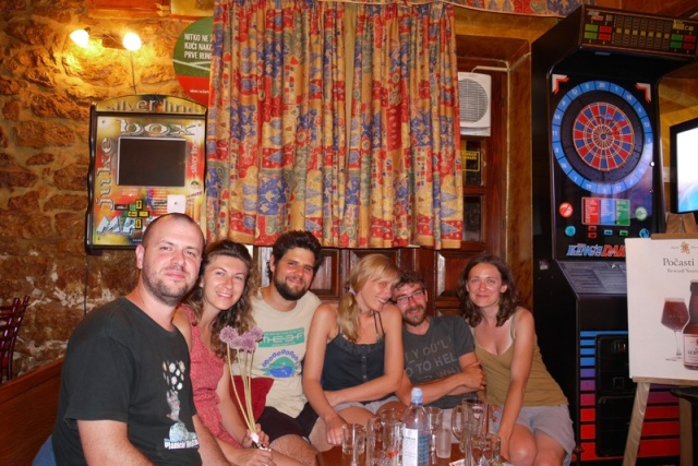 With our lovely drivers Janko and Tihana and their friends Marko and Inez in Rovinj, Croatia