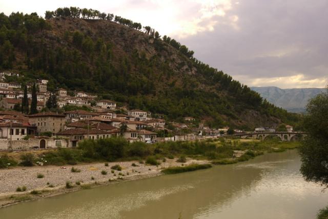 Berat in the evening, Albania