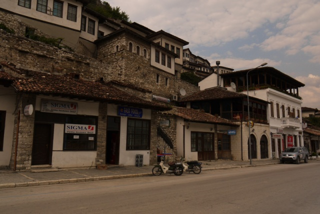 Houses on the castle hill, Berat, Albania