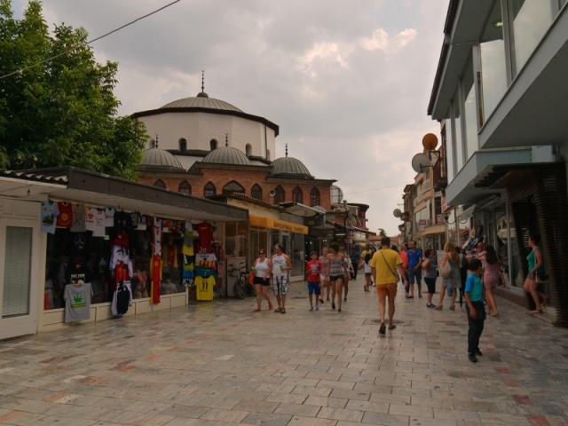 Main shopping street, Ohrid, Macedonia