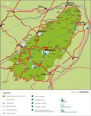 Map Serra de Estrela