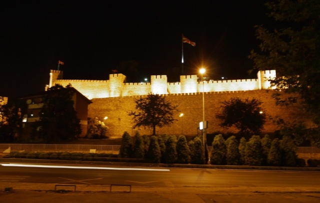 Skopje Castle by night, Skopje, Macedonia