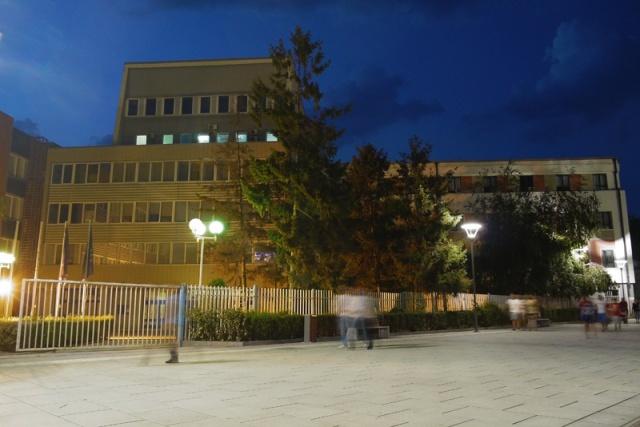The Assembly of Kosovo - Kosovo Parliament by night, Prishtina
