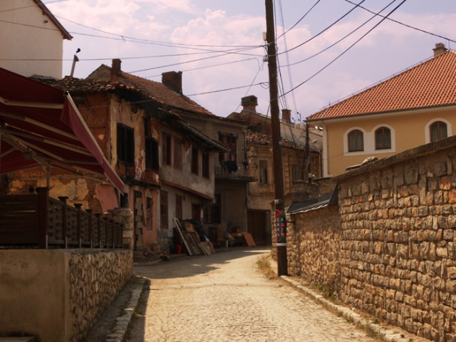 The streets of Prizren, Kosovo