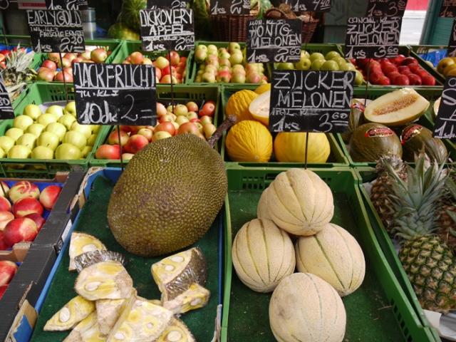 Fruit stall in Naschmarkt, Vienna, Austria