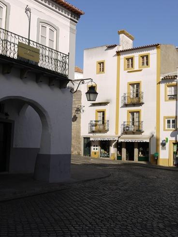 Evora, Portugal (7) - Rua Largo Luiz de Camões  seen from Rua José Elias Garcia