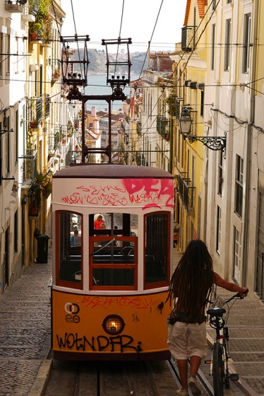 Lisbon, Portugal (48) - Yellow tram