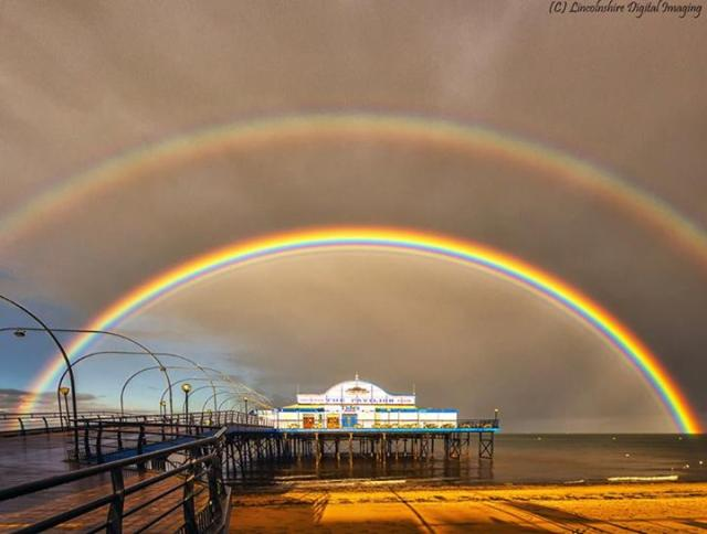 Mike Whittaker- Double rainbow in Cleethorpes, Lincolnshire, UK