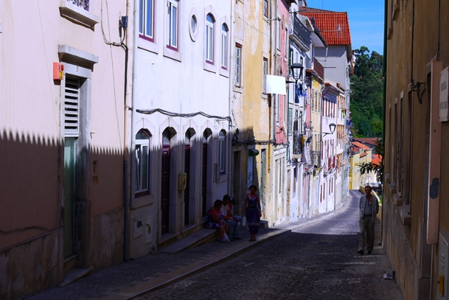 Narrow street in Coimbra, Portugal